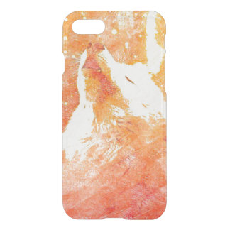 Coque iPhone 8/7 iPhone orange de loup 8/7 cas de Clearly™