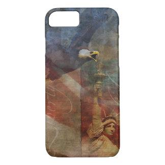 Coque iPhone 8/7 iPhone patriotique 7 Shell avec l'art d'Eagle