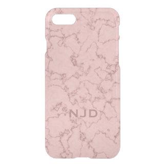 Coque iPhone 8/7 iPhone personnalisé par marbre rose 7 de quartz