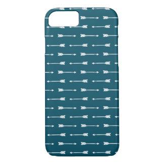 Coque iPhone 8/7 iPhone turquoise et blanc foncé des flèches |