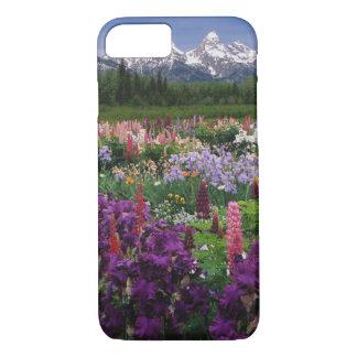 Coque iPhone 8/7 Iris et jardin de loup et chaîne de Teton,