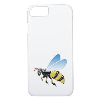 Coque iPhone 8/7 jaunes 3D et noirs brillants gaffent l'abeille