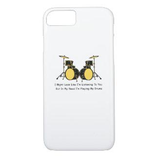 Coque iPhone 8/7 Je joue ma musique de batteur de tambours