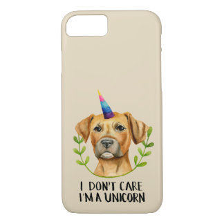 """Coque iPhone 8/7 """"Je suis illustration de chien de pitbull D'UNE"""