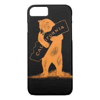 Coque iPhone 8/7 Je t'aime la Californie--Orange et noir