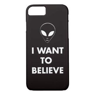 Coque iPhone 8/7 Je veux croire (le noir)