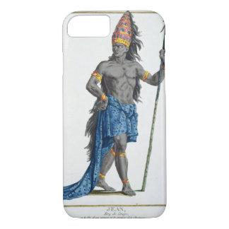 Coque iPhone 8/7 Jean, roi du Congo, gravé par Pierre Duflos