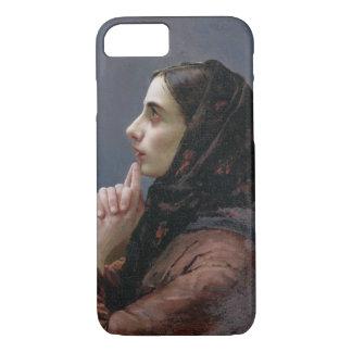 Coque iPhone 8/7 Jeune femme à la prière, 1879 (huile sur la toile)