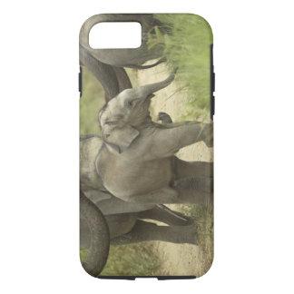 Coque iPhone 8/7 Jeunes ceux d'éléphant indien/asiatique sur