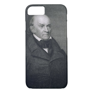 Coque iPhone 8/7 John Quincy Adams, gravé par John Wesley Paradis