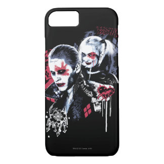 Coque iPhone 8/7 Joker du peloton | de suicide et graffiti peint