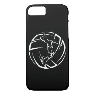 Coque iPhone 8/7 Joueur de volleyball masculin stylisé avec la