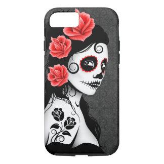 Coque iPhone 8/7 Jour de la fille morte de crâne de sucre - gris