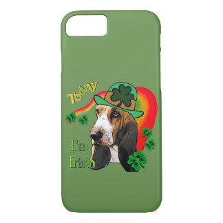 Coque iPhone 8/7 Jour de la Saint Patrick de Basset Hound