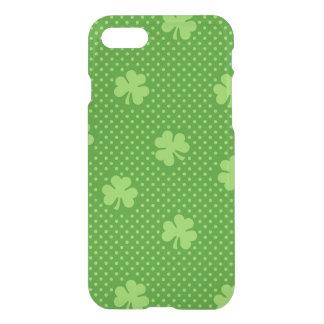 Coque iPhone 8/7 Jour vert de Patricks de saint de motif de trèfle