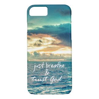 Coque iPhone 8/7 Juste respirez et faites confiance à la citation