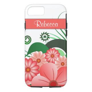 Coque iPhone 8/7 Ketmie nommée faite sur commande de fleurs assez