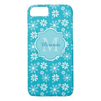 Coque iPhone 8/7 La belle marguerite de turquoise fleurit le