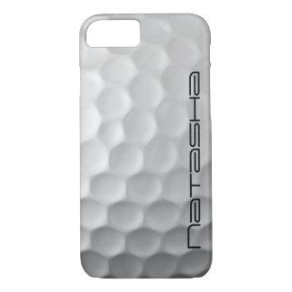 Coque iPhone 8/7 La boule de golf personnalisée embrève le motif de