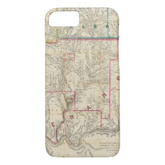 Coque iPhone 8/7 La carte de Howe du secteur d'huile de la