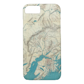 Coque iPhone 8/7 La carte de Sleem de l'Alaska central