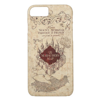 Coque iPhone 8/7 La carte du maraudeur du charme | de Harry Potter