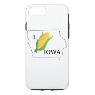 Coque iPhone 8/7 La chemise de maïs de l'Iowa bébête tournent du