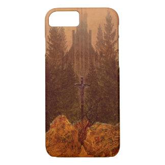 Coque iPhone 8/7 La croix dans les montagnes, 1812 (huile sur la