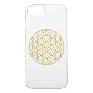 Coque iPhone 8/7 La fleur vivant or - 7 gaine iPhone