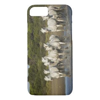 Coque iPhone 8/7 La France, Camargue. Chevaux courus par l'estuaire