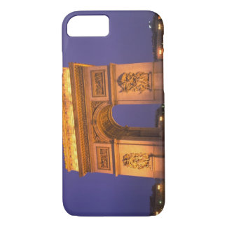 Coque iPhone 8/7 La France, Paris, Arc de Triomphe au crépuscule