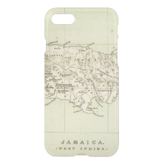 Coque iPhone 8/7 La Jamaïque a lithographié la carte