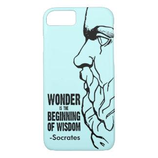 Coque iPhone 8/7 La merveille est le début de la sagesse - citation