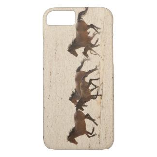 Coque iPhone 8/7 La Namibie, Aus. Groupe de courir les chevaux