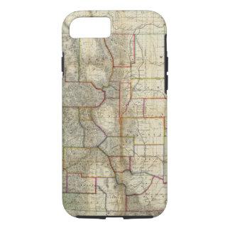 Coque iPhone 8/7 La nouvelle carte de Thayer de l'état du Colorado