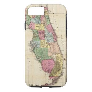 Coque iPhone 8/7 La nouvelle carte Drew's de l'État de Floride