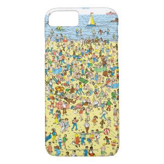Coque iPhone 8/7 Là où est Waldo sur la plage