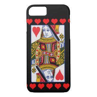 Coque iPhone 8/7 La Reine fleurie colorée vintage avec des coeurs