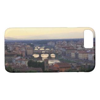 Coque iPhone 8/7 La rivière de l'Arno et le Ponte Vecchio à