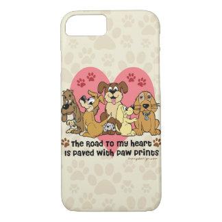 Coque iPhone 8/7 La route à mes chiens de coeur