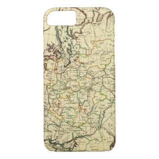 Coque iPhone 8/7 La Russie en Europe avec des frontières décrites