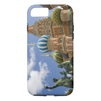 Coque iPhone 8/7 La Russie, Moscou, carré rouge. St Basil 3