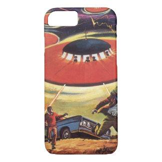 Coque iPhone 8/7 La science-fiction vintage, invasion d'alien d'UFO