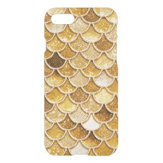 Coque iPhone 8/7 La sirène brillante de parties scintillantes d'or