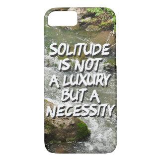 Coque iPhone 8/7 La solitude est un cas de téléphone de nécessité