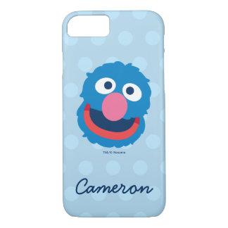 Coque iPhone 8/7 La tête de Grover | ajoutent votre nom