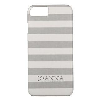 Coque iPhone 8/7 La toile grise de ferme barre le monogramme