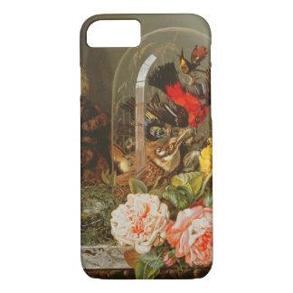 Coque iPhone 8/7 La vie toujours avec l'oiseau de ronflement dans