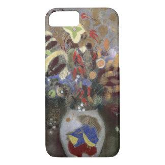 Coque iPhone 8/7 La vie toujours d'un vase de fleurs (en pastel sur