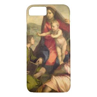 Coque iPhone 8/7 La Vierge et l'enfant avec un saint et un ange, C.